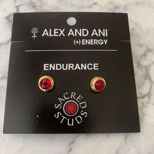 ALEX + ANI SACRED STUDS ENDURANCE EARRINGS